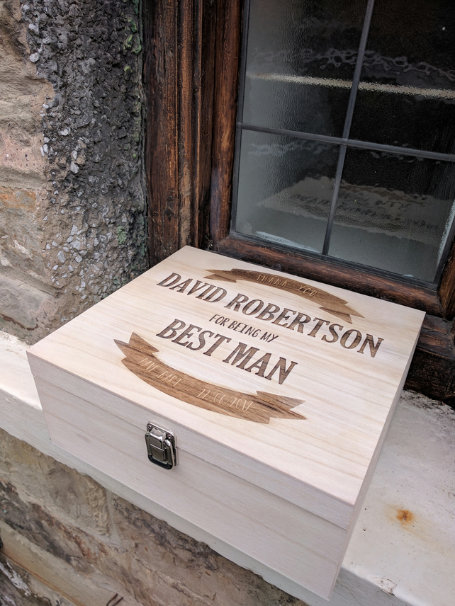 Personalised Wooden Beer Box (Men's Gift)