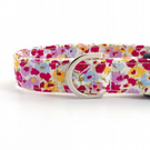 Spring Flowers Dog Collar (medium or large)