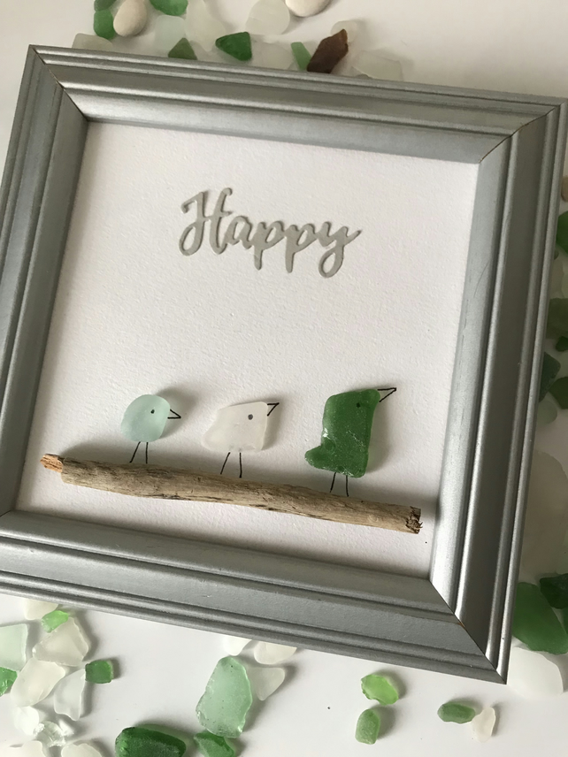 Sea Glass 'Happy '