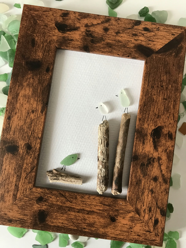 Sea Glass and Driftwood Picture