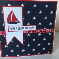 Seaside Birthday Card - price reduced!