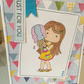 Girl with Ice Cream Birthday Card
