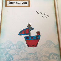 Sail Boat Greetings Card