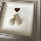 'Together' Pebble Art Couple in Love