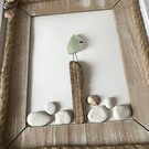 Sea Glass and Driftwood Art