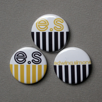 100 custom badges 25mm