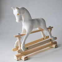 20 cm Unpainted Rocking horse, to paint yourself, FREE P & P