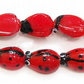 10 Handmade Lampwork Ladybird Beads 12-14mm Long. (WL65)