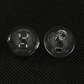 3 Hollow Hand Blown Statement Glass Beads Orbs. 16mm