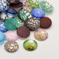 3 Handmade Silver Foil Lampwork 20mm Glass Cabochons (CAB1)