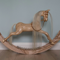 Handcrafted Wooden Rocking Horse