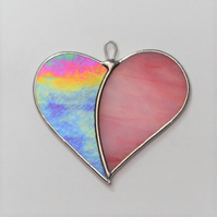 "Stained Glass Love Heart ""When Two Hearts become One"""