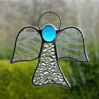 Stained glass (Angel) abstract in two different textured glass