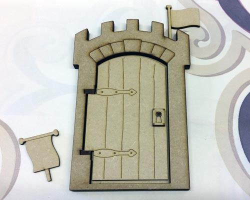 Wooden 3D Opening Castle Fairy Door