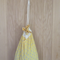 Cotton draw string storage bag