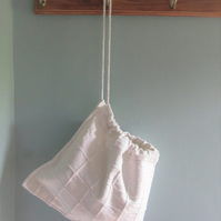 Cotton drawstring storage bag - small