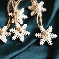 Fragile Snowflake Tags (Large) - Set of 6