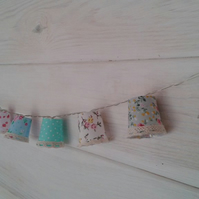 Set of shabby chic ,mini lampshade fairy light garland