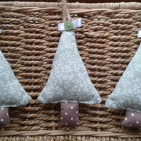 Trio of Christmas tree decorations