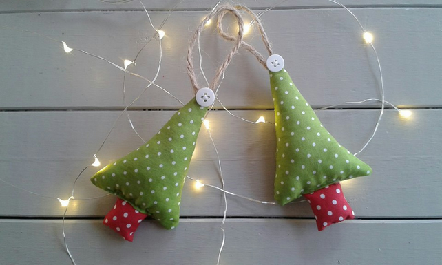 Pair of Christmas tree decorations