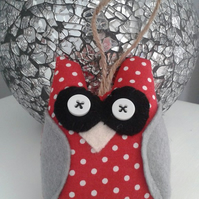 Christmas owl hanging tree decoration