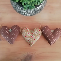 Hare fabric heart hanging garland decoration