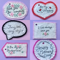 Hand embroidered felt gift bouquet tags