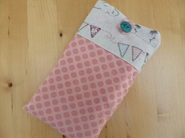 Fabric sleeve for smartphone: iPhone 6 6s 7 7s, Samsung 6 5 5c 5s 6 plus