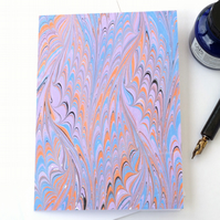 Lovely marbled paper art greetings card pattern metallic waved gothic pattern