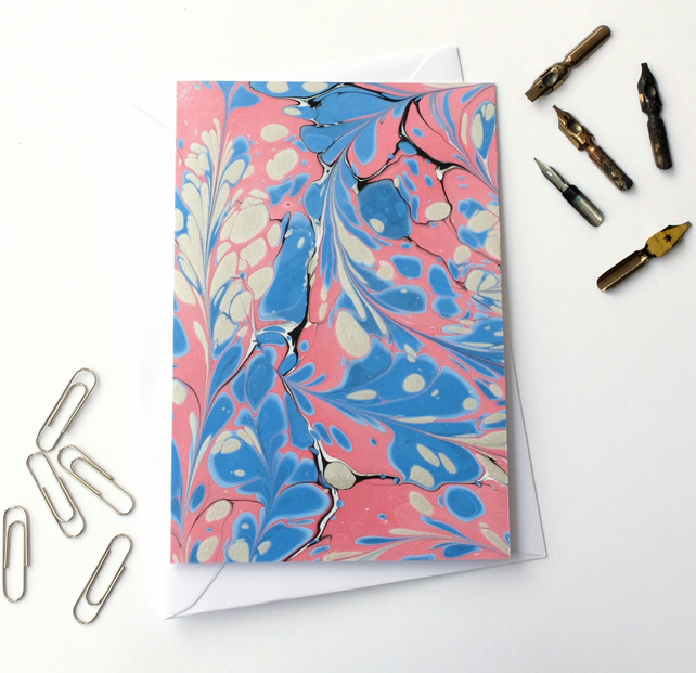 Beautiful marbled paper art greetings card pattern metallic stone pattern