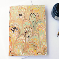 Lovely marbled paper art greetings card pattern metallic bouquet pattern
