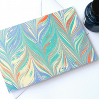 Simple but bold marbled note card gelgit pattern