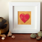 Marbled paper heart framed picture valentines anniversary wedding new house gift