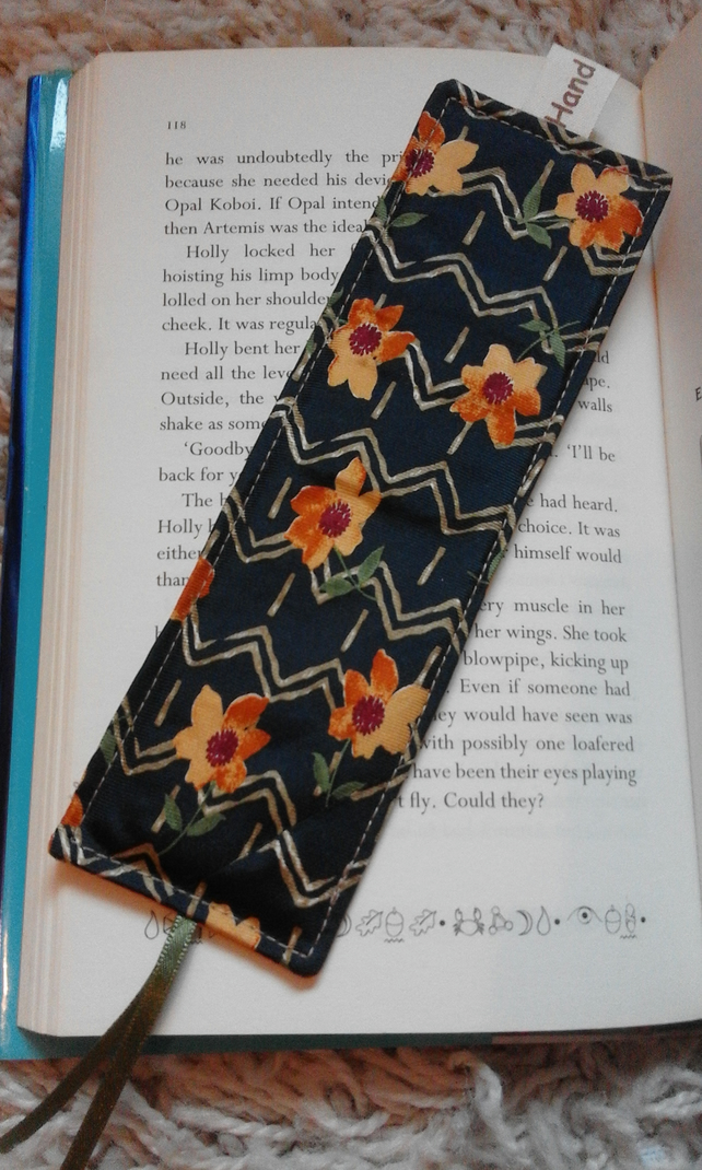 Upcycled Recycled Silk Fabric Tie Necktie bookmark