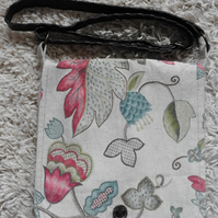 Floral Print Art Nouveau Lined Shoulder Bag Handbag