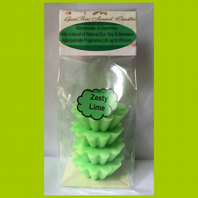 Tangy Fruity Fragrance of Zesty Lime Soy Wax Melts