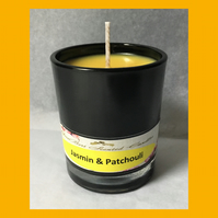 Intense Floral Fragrance of Jasmin & Patchouli 9cl Soy Glass Votive