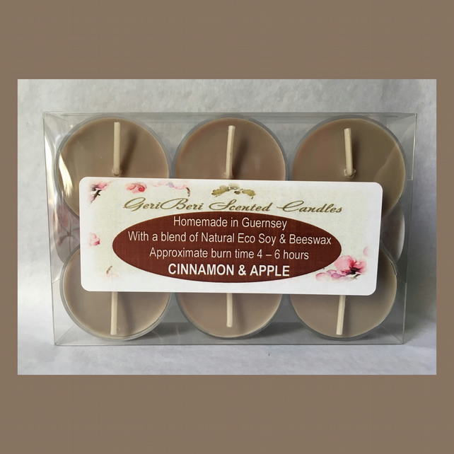 Aromatic Spiced Fragrance of Cinnamon & Apple Soy Tea Lights