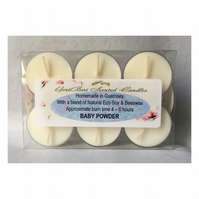 Classic Powdery Floral Fragrance of Baby Powder Soy Tea Lights