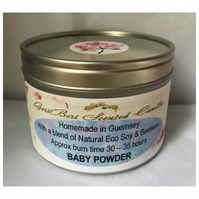 Classic Powdery Floral Fragrance of Baby Powder Large Soy Candle Tin