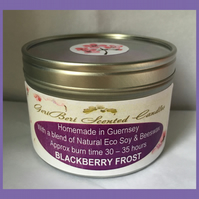 Sweet Fruity Fragrance of Blackberry Frost Large Soy Candle Tin