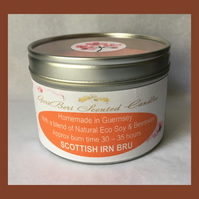 Refreshing Fragrance of Scottish Irn Bru Large Soy Candle Tin