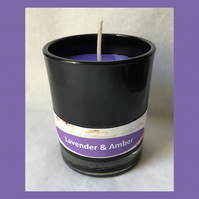 Aromatic Floral Fragrance of Lavender & Amber 9cl Soy Glass Votive