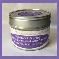 Aromatic Floral Fragrance of Lavender & Amber Medium Soy Candle Tin