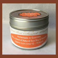 Refreshing Fragrance of Scottish Irn Bru Medium Soy Candle Tin