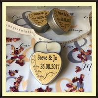 Personalised Scented Soy Candle Wedding Favours - Multiples of Ten - Golden