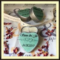 Personalised Scented Soy Candle Wedding Favours - Multiples of Ten - Pale Green