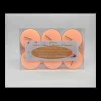 Guernsey Lily and Mandarin Scented Soy Tea Lights - Free UK Shipping