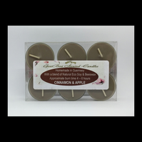 Cinnamon & Apple scented Soy Tea Lights