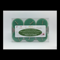 Fresh Cut Grass Scented Soy Tea Lights - Free UK Shipping